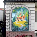 Роспись фасада, Нижний Новгород